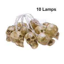 Outdoor Skull Lights Amazon Com Amosfun Halloween Skull Hanging Lights Led