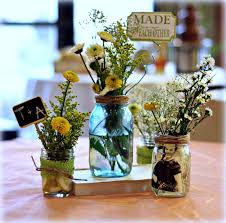 decoration: Funny Fresh Flower In Clear Water For Decorated Mason Jars  Desaign Ideas With Picture