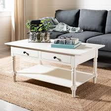 Coffee tables large small modrest p592a modern white coffee table lorraine coffee table pottery barn 50 best coffee tables 2019 the amusing high coffee tables living room. Safavieh Boris 42 In Cream Large Rectangle Wood Coffee Table With Drawers Amh5706c The Home Depot