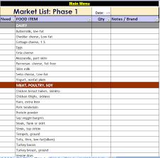 p90x market list phase 1
