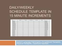 Excel 15 Minute Schedule Template Printable Weekly Schedule 15 Minute Increments Download Them Or Print