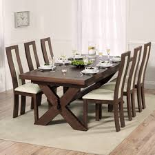 avalon dark solid oak 200cm extending dining table with 8 howard chairs 2726