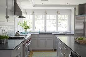 grey kitchen cabinets with black granite countertops kitchen designs