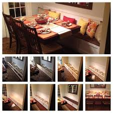 dining room tables for small area. diy breakfast nook / banquette /small dining room ideas.total cost $100- tables for small area t