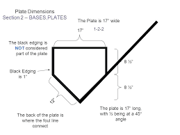 Size Of Home Plate Baseball Home Plate Dimensions Bellewether Me
