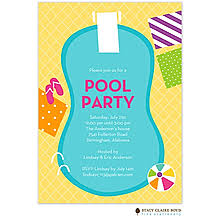 Pool Party Invitations New Selections Fall 2018