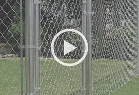 install chain link fence