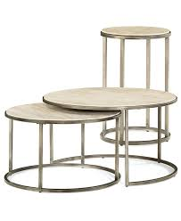 monterey round tables 2 piece set nesting coffee table and end round coffee table sets