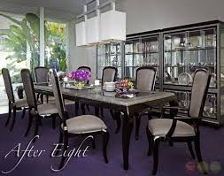 Dining Room Table And 8 Chairs After Eight Black Onyx 9 Piece Formal Dining Room Furniture Set