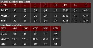 Xscape Size Chart Xscape Dresses Size Chart Bedowntowndaytona Com