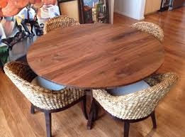 custom made 60 round walnut table top