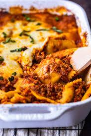 ravioli lasagna bake easy lasagna