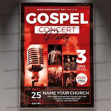 Concert Invite Template Gospel Concert Party Flyer Psd Template
