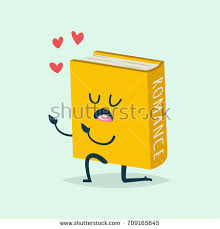 cute book cartoon character in love and heart around vector flat icon for st