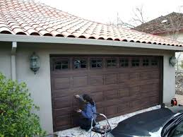 how to paint aluminum garage doors how to paint a garage door to look like wood how to paint aluminum garage