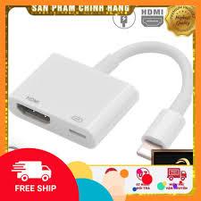 Chỉ 98,280đ Cáp Chuyển Đổi Lightning Sang Hdmi Kỹ Thuật Số Av Tv Cho Apple  Iphone 6 7 8 Plus Ipad
