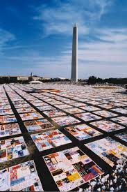 Unfolding the AIDS Memorial Quilt at the Folklife Festival | At ... & The AIDS Memorial Quilt, spread out on the National Mall. Image courtesy of  The NAMES Project Foundation. Adamdwight.com