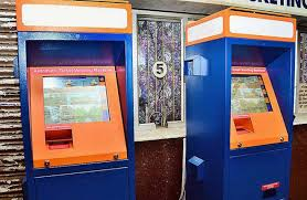 Ticket Vending Machine Classy Ticket Vending Machines Installed At Railway Junction The Hindu