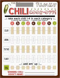 chili cook off judging sheet image result for chili cook off score cards the reserve club