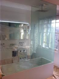 switchable smart glass bathroom screen switched on clear