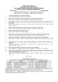 nalanda open university post graduate diploma in marketing  nalanda open university post graduate diploma in marketing management paper ii 2013 question paper pdf