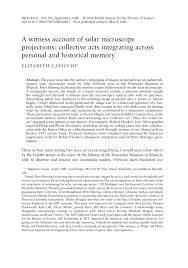 Society For Creative Anachronism Modern Resume Pdf A Witness Account Of Solar Microscope Projections Collective