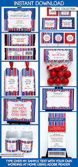 Fourth Of July Party Printables Invitations Decorations