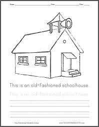Small Picture Old Fashioned Schoolhouse Coloring Page Student Handouts