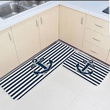 2 piece kitchen mats and rugs set striped anchor home deocr non skid area runner doormats