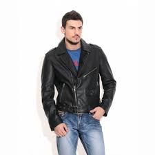 theo ash men s leather jackets black leather biker jacket india
