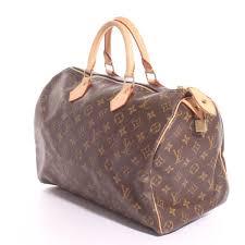 louis vuitton 35. handtasche von louis vuitton in braun und beige - speedy 35 a