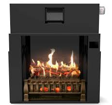 28 holoflame fireplace insert w realistic flames sound heat touchscreen controls