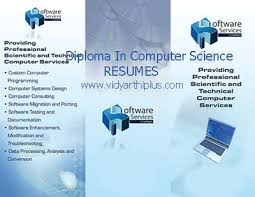 Diploma In Computer Science Engineering Resume Format And Samples