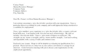 Examples Of General Cover Letters General Job Cover Letter General