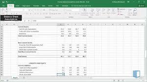 Online Balance Sheet Creating Balance Sheet Assumptions Part 1 Online Financial Modeling Training