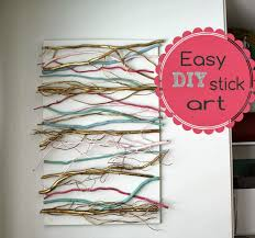 Diy office art Cute Office Decor Diy Stick Art Joyfully Home Diy Stick Art For The Office day 22 Joyfully Home