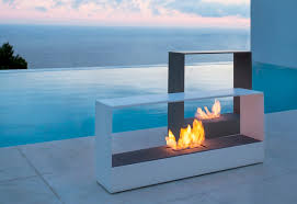modern outdoor fireplace gas