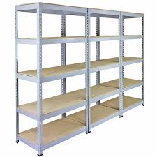3 Racking Bays 90cm Garage Shelving Storage Warehouse Shelves Unit Steel 5  Tier: Amazon.co.uk: DIY & Tools