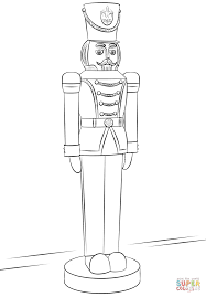 Nutcracker Soldier Coloring Page Free Printable Pages Toy Drawing