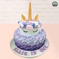 Customised Magical Unicorn Lavender Birthday Cake Party Wholesale
