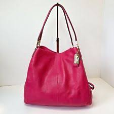 COACH MADISON Phoebe Shoulder Bag Pink Fuchsia 26224