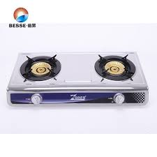 Best Price Double Burner Stainless Steel Blue Fire Gas Stove