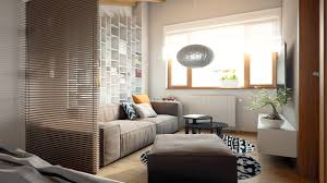 Interior Design For Apartments Living Room Living And Sleeping Areas Exist In Harmony In These Comfortable