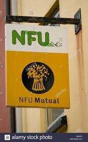national farmers union nfu mutual insurance company sign stock image