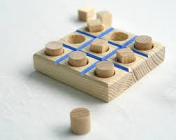 Handmade Wooden Board Games Wood tic tac toe game board game natural wooden game rustic 37