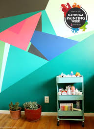 Paint Design For Walls Geometric Objects And Decoration Patterns In Modern Living Room