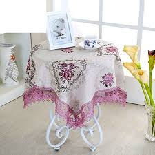 small table tablecloth bedside table