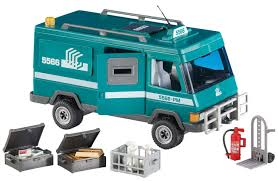 Playmobil City Action Police Van With Lights And Sound 6043 Playmobil Add On Series Money Transport Vehicle Amazon Co