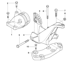 We will be replacing part 3 in the diagram above with the powerflex bushings you can see the upper bracket part 4 just above and to the left of the