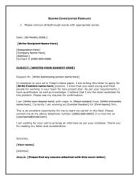 Resume Cover Letter Template In Word And Pdf Formats